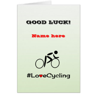 Good Luck personalise cycling Card