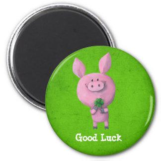 Good Luck Pig Fridge Magnet