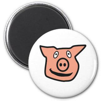 Good Luck Pig - pink piggy Magnet