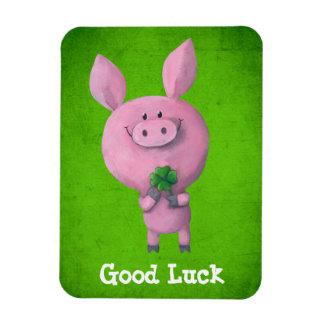Good Luck Pig Vinyl Magnet