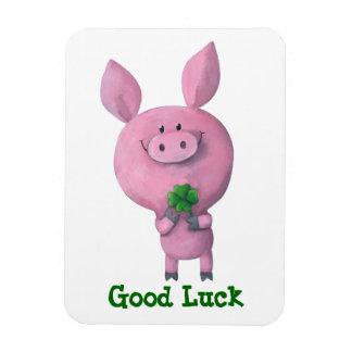 Good Luck Pig Rectangular Magnets
