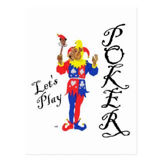Good Luck Poker Terrier Post Card