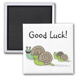 Good Luck Snail family! Square Magnet