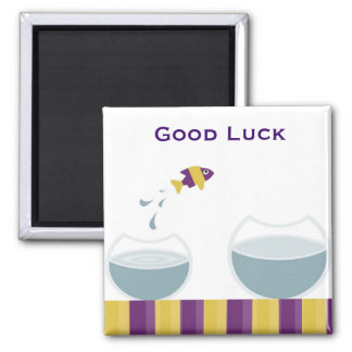 Good Luck Square Magnet