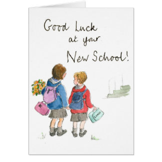Good Luck - Starting School Card