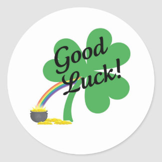 Good Luck Round Sticker