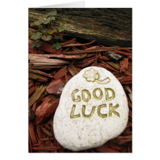 Good Luck Stone Greeting Card