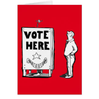 GOOD LUCK VOTING GREETING CARD