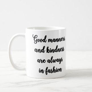 Good manners mug