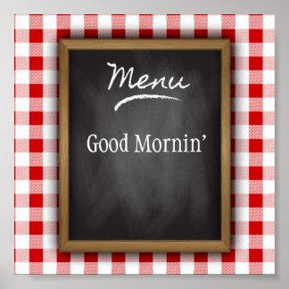 Good Mornin' Kitchen Art Poster
