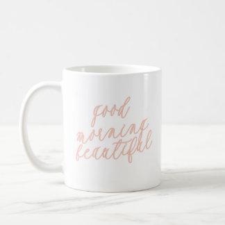 Good Morning Beautiful Coffee Mug Peach