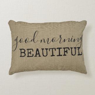 Good Morning Beautiful Decorative Cushion