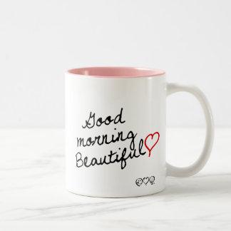 Good Morning Beautiful! Two-Tone Coffee Mug