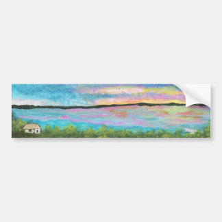 Good Morning From Original Abstract Painting Bumper Sticker