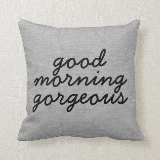 Good morning gorgeous rustic chic burlap linen jut cushion