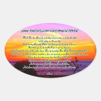 Good Morning Heavenly father prayer Sticker