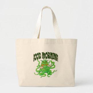 Good Morning! Large Tote Bag