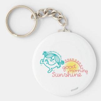 Good Morning Little Miss Sunshine Basic Round Button Key Ring