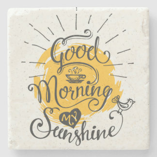 Good Morning My Sunshine Stone Coaster