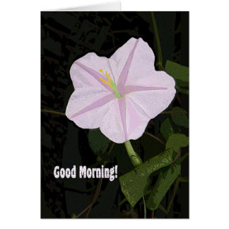 Good Morning Note Card Lavender Morning Glory