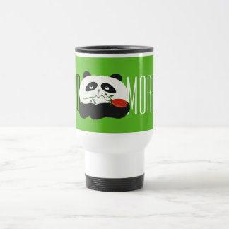 Good Morning Panda Cute Flower Cartoon Green Fresh Travel Mug