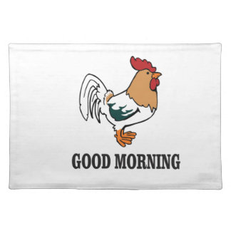 good morning rooster placemat