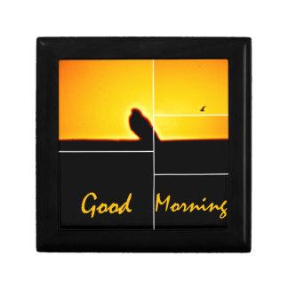 Good Morning Small Square Gift Box