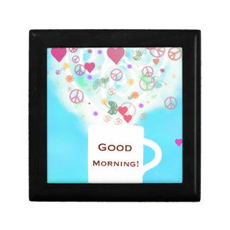 Good morning! small square gift box