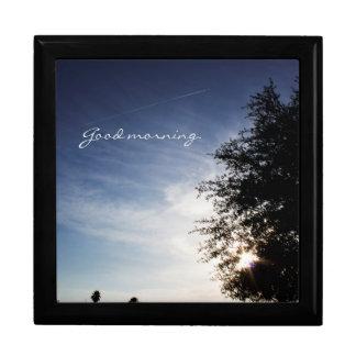 """""""Good morning"""" sunrise Large Square Gift Box"""
