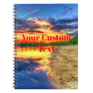 Good Morning Sunrise Sandy Tropical Beach Spiral Notebook