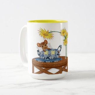 GOOD MORNING SUNSHINE MUG - MOUSE IN TEACUP