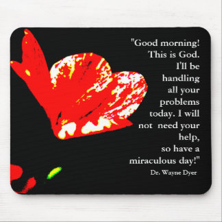 """""""Good morning! This is God"""" Mousepad"""