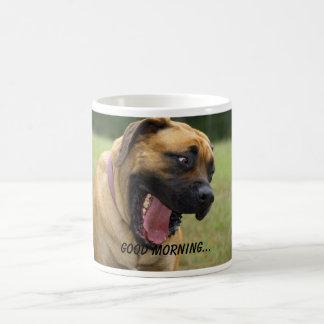 Good Morning - Yawning English Mastiff Dog Smile Coffee Mug
