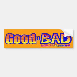 Good n Bad Spraypaint Graphic Bumper Sticker Car Bumper Sticker