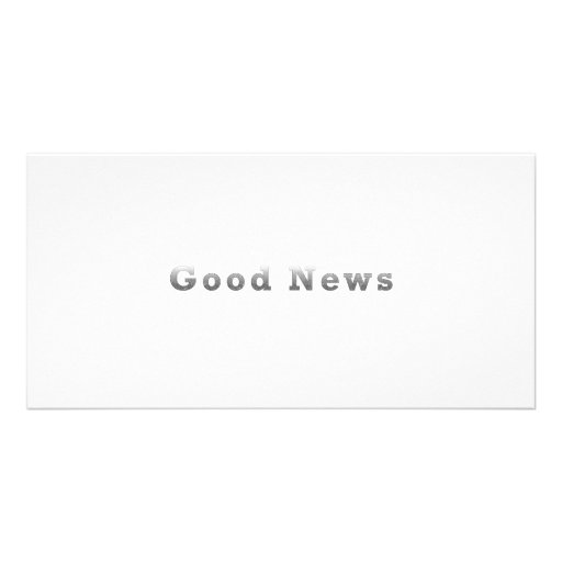 Good News Personalized Photo Card