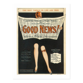Good News! Vintage Songbook Cover Post Card