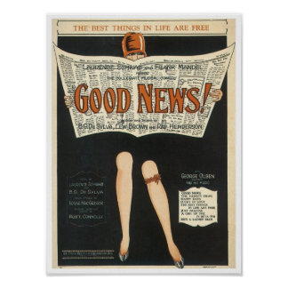 Good News! Vintage Songbook Cover Posters