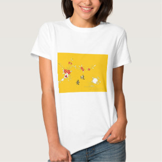 good night flower table t shirts