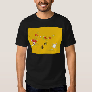 good night flower table t-shirts