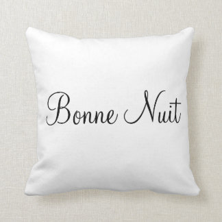 good night pillow bonne nuit