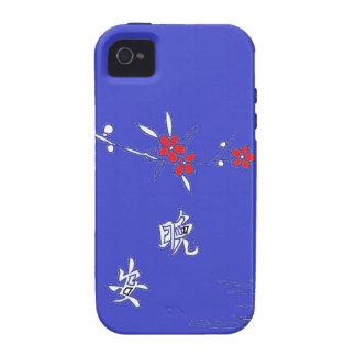 good night purple flower moon vibe iPhone 4 case