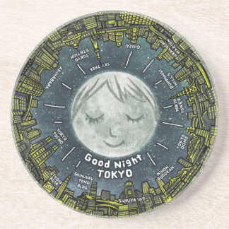 Good Night TOKYO Drink Coaster