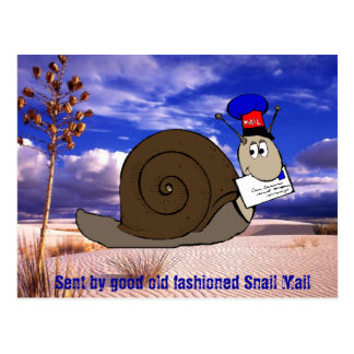 Good Old Fashioned Snail Mail Postcard