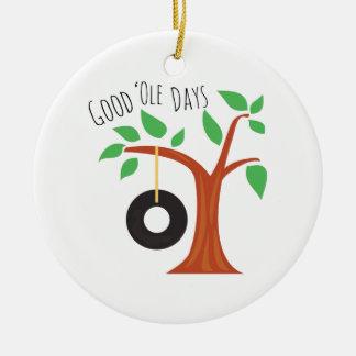 Good Ole Days Round Ceramic Decoration