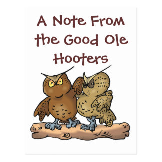 Good ole hoots Postcard