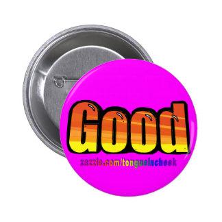 Good Orange Spraypaint Graphic Customize Me Buttons