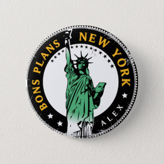 Good Plans for a voyage to New York 6 Cm Round Badge
