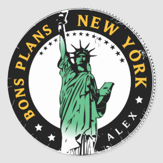 Good Plans for a voyage to New York Classic Round Sticker