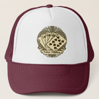 Good Poker Hand custom name hat