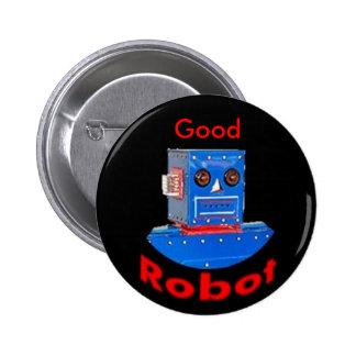 Good Robot Blue Pinback Button